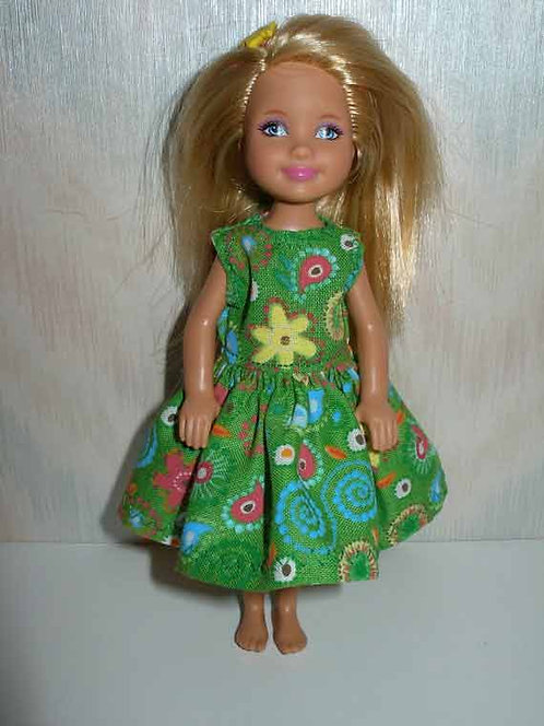 Chelsea Green Print Dress