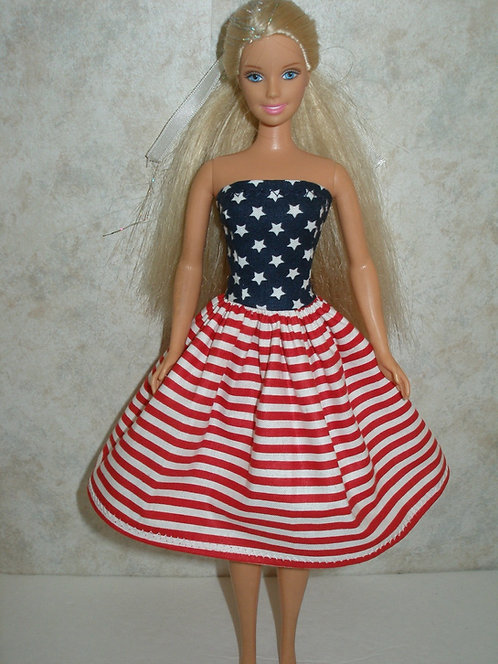 Red, White and Blue Dress
