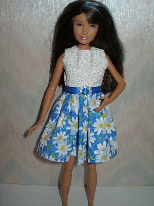 Skipper Blue/White Daisy Dress