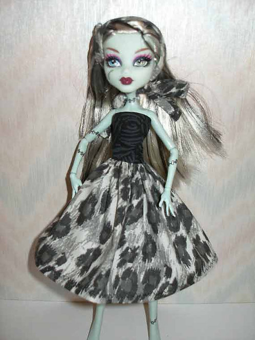 MH Animal Print Dress with Headband