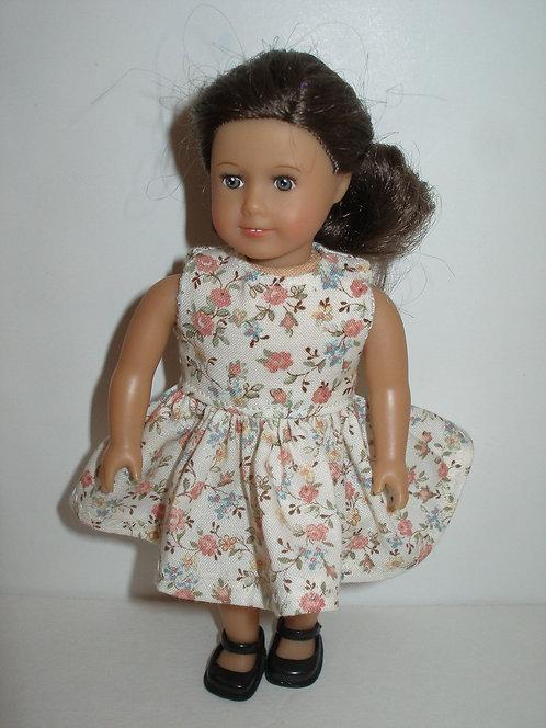 AG Mini - Cream and Peach Floral Dress