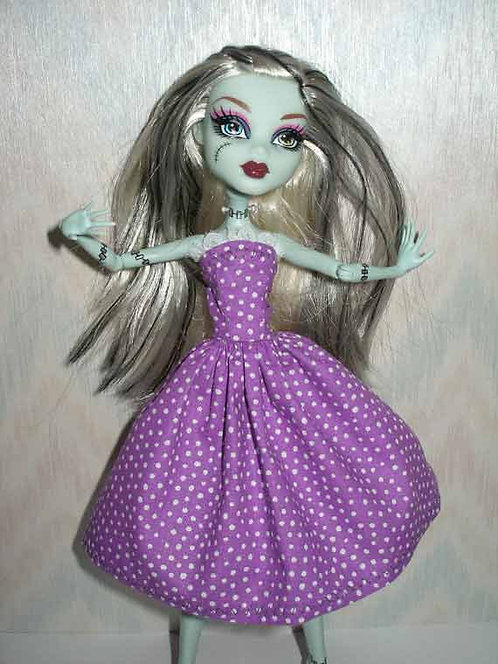 MH Purple Polka Dot Dress