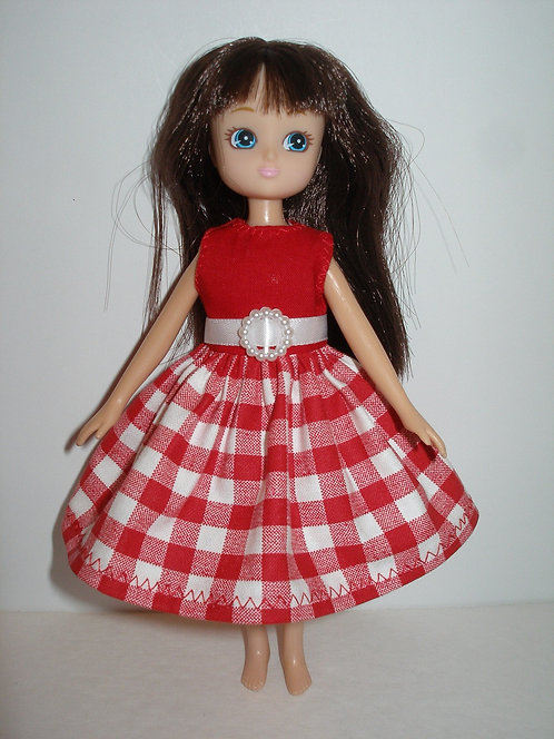 Lottie - Red and White Plaid