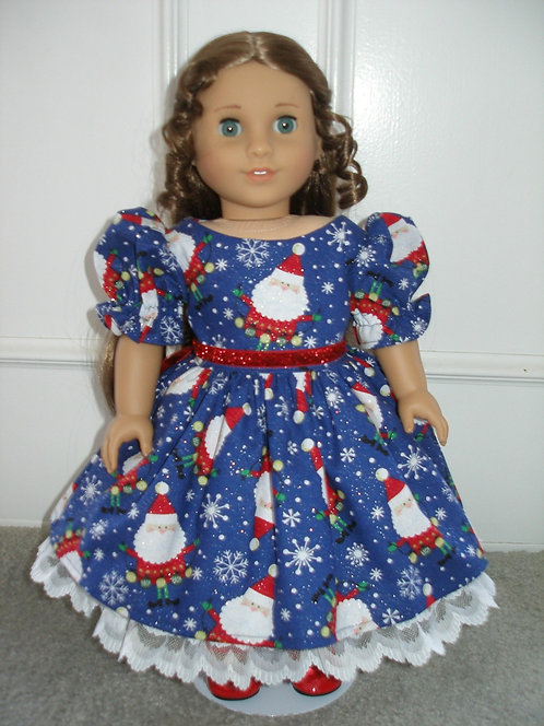 AG Holiday Santa Dress w/red shoes