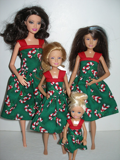 Holiday Candy Cane Sister Set