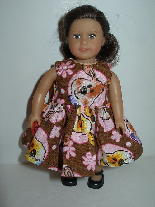 AG Mini - Brown and Pink Puppy Dress