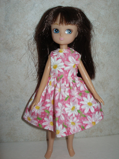 Lottie - Pink and White Daisy Print Dress