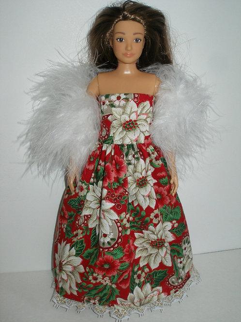 Lammily - Poinsettia Gown Red/White