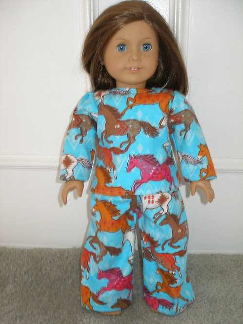 AG Horse Flannel Pajamas - More Prints