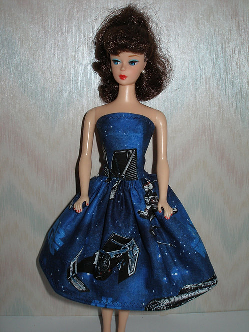 Blue Star Wars Print Dress