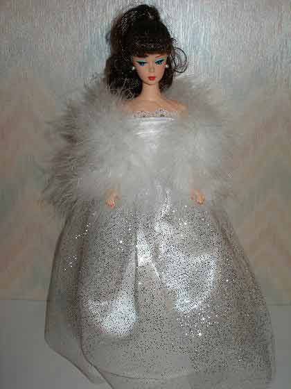 Silver Glitter Tulle Gown