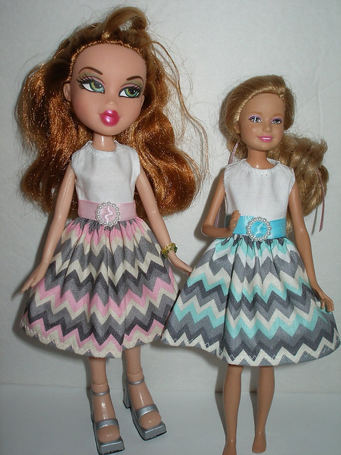 Stacie/Bratz  Chevron Print Dress