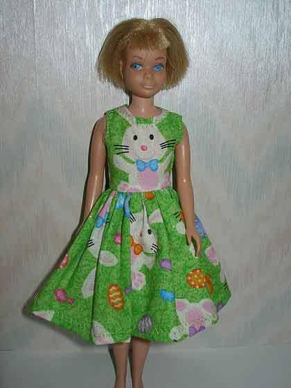 Vintage Skipper doll Green Bunny Dress