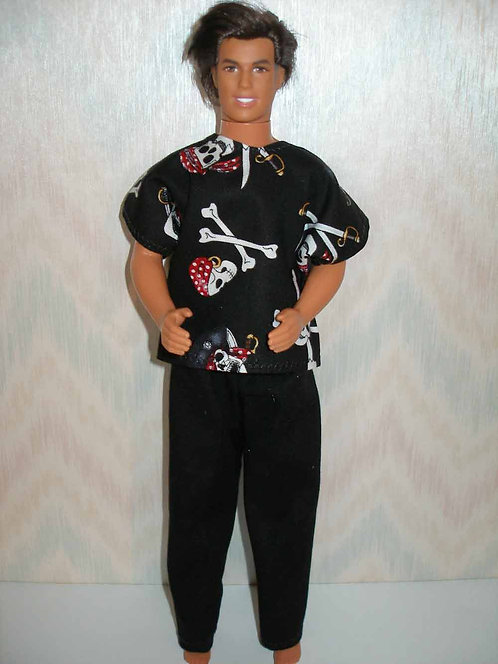 Ken Pirate Skulls Outfit