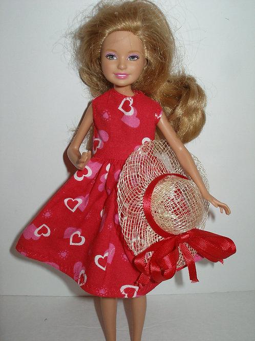 Stacie/Bratz Red Valentine Dress w/Hat