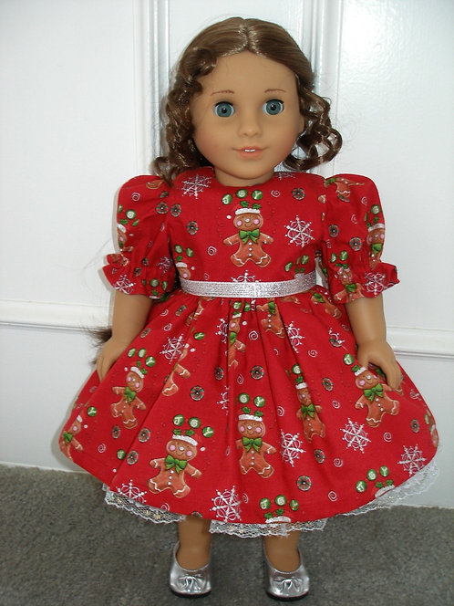 AG Gingerbread Dress and Silver Shoes