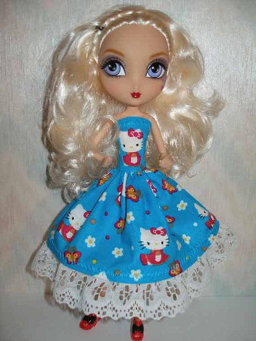 MH & EA Blue Hello Kitty Dress