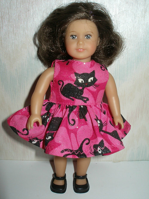 AG Mini - Pink and Black Cat Dress