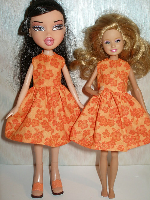 Stacie/Bratz Orange Floral Dress