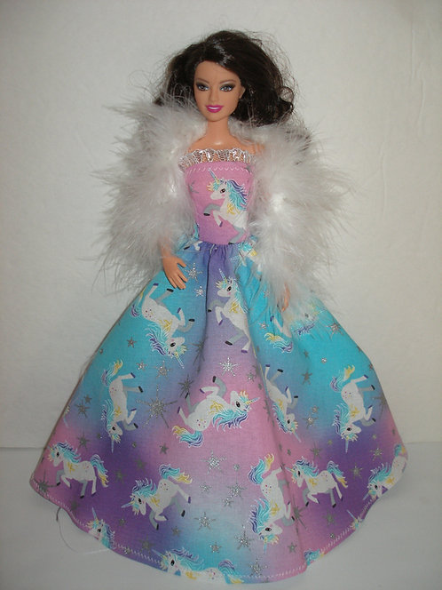 Glittery Unicorns Gown