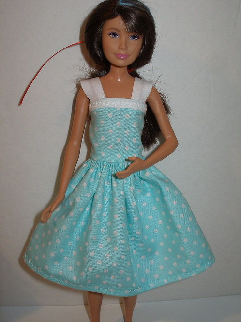 White Polka Dot Dress - More Colors