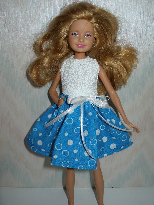 Stacie Blue and White Dot Dress
