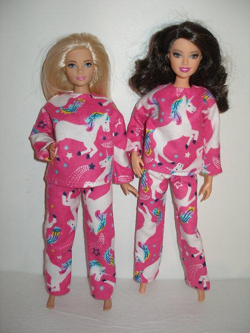 Pink and White Unicorn Pajamas