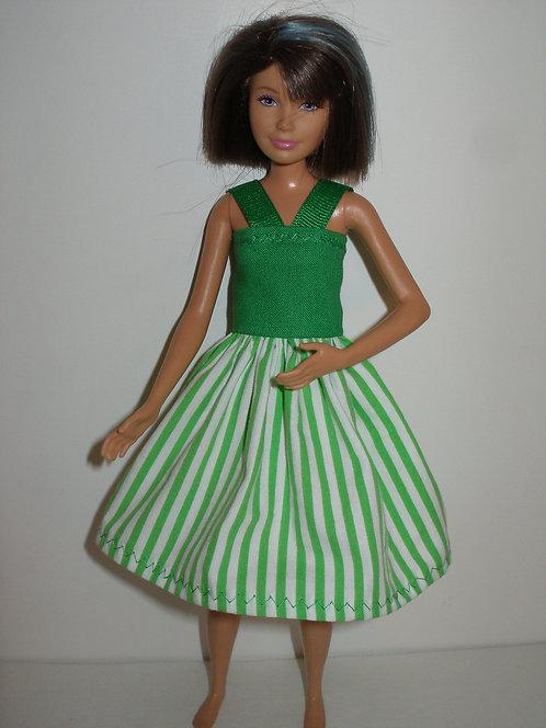 Skipper - Green and White Stripe Dress