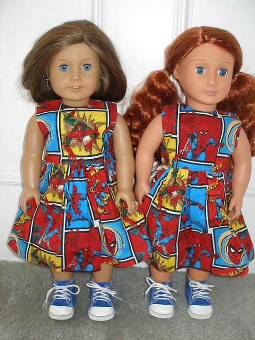 AG Spiderman Print Dress w/shoes