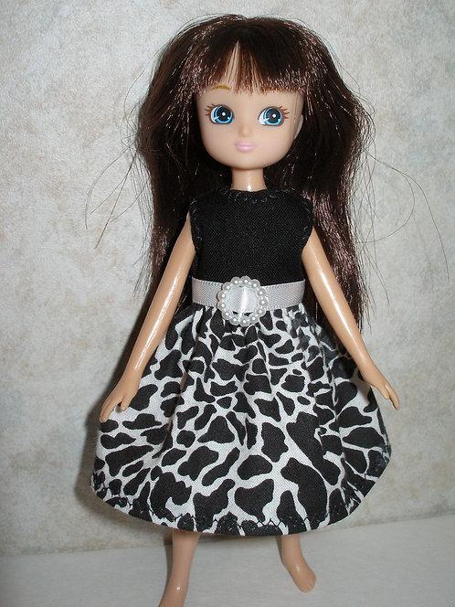 Lottie - Black and White Print Dress