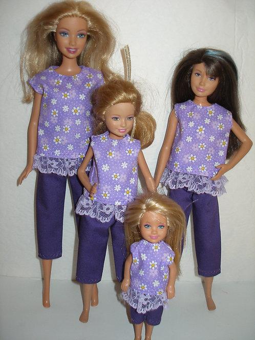 Purple Daisy Capris Outfit - Sister Set