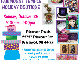 Come out to the Fairmount Temple on October 25th, I'll be there selling my stuff!