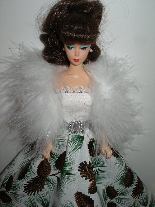 Glittery Pine/Pine Cones Gown