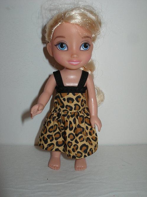 "6"" Princess - Dress w/bias trim straps"