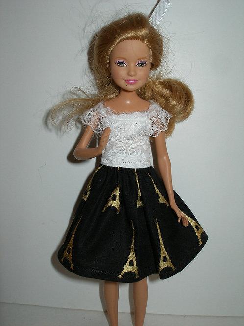Stacie/Bratz Black Eiffel Tower Dress