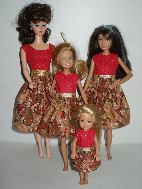 Red and Brown Gingerbread - Sister Set