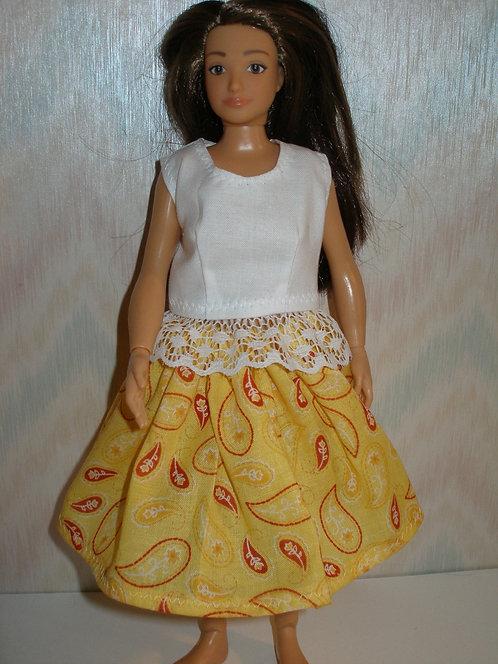 Lammily - Yellow Print Skirt Set