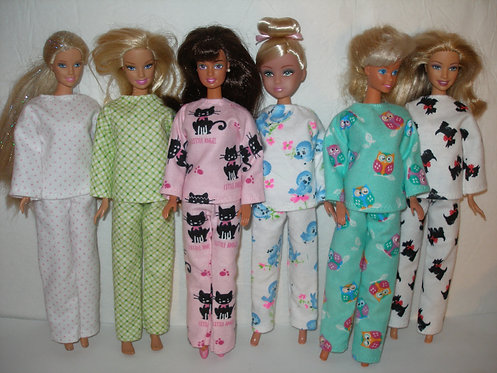 Flannel Pajamas for Barbie - More options