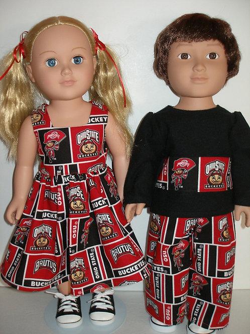 AG Red/Black Block Print Boy/Girl
