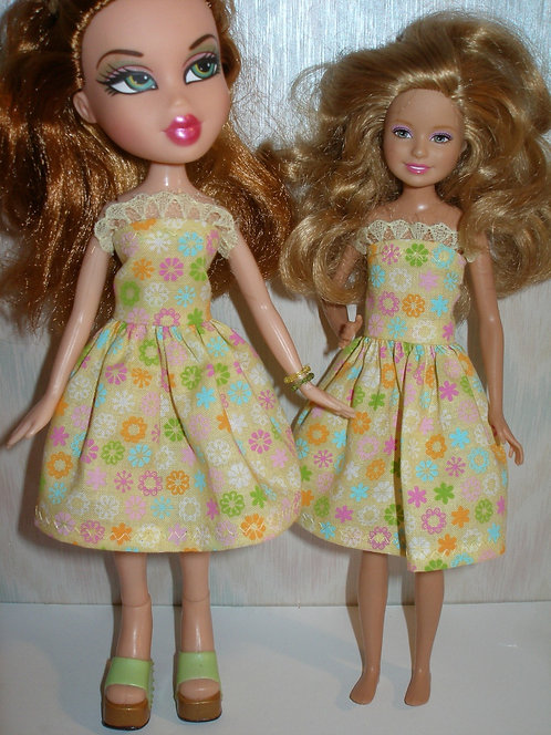 Stace/Bratz Yellow Floral Dress