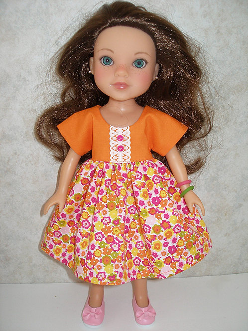 WW - Orange and Pink Floral Dress