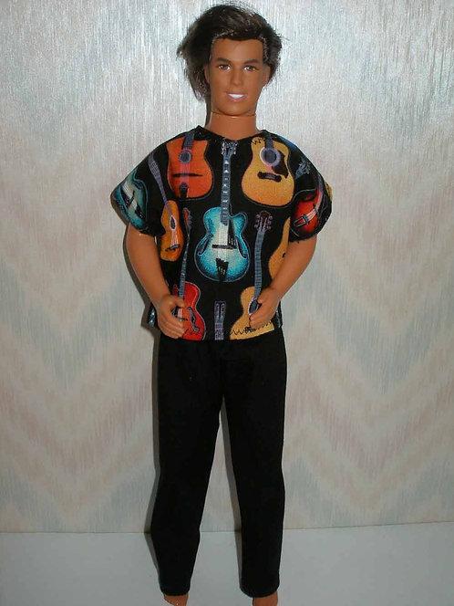 Ken Guitar Outfit