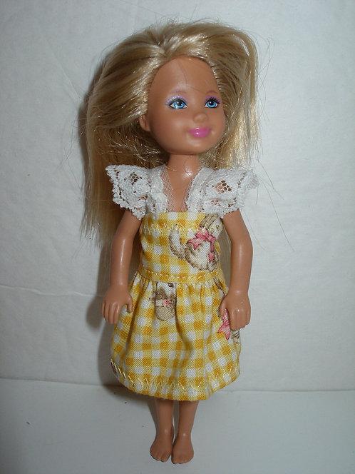 Chelsea - Yellow Plaid Kitten Dress