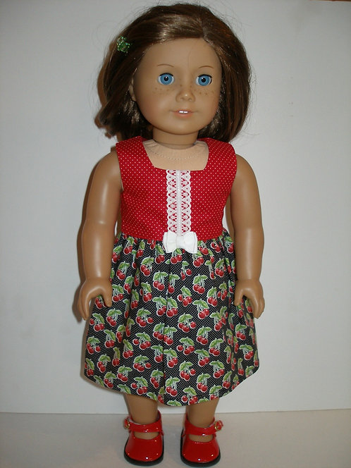 AG Black and Red Cherries Dress w/shoes