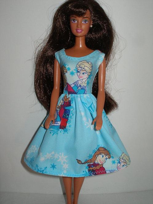 Aqua Elsa & Anna Print Dress