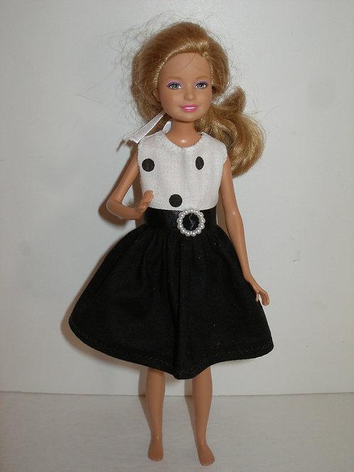 Stacie/Bratz Black and White Dress
