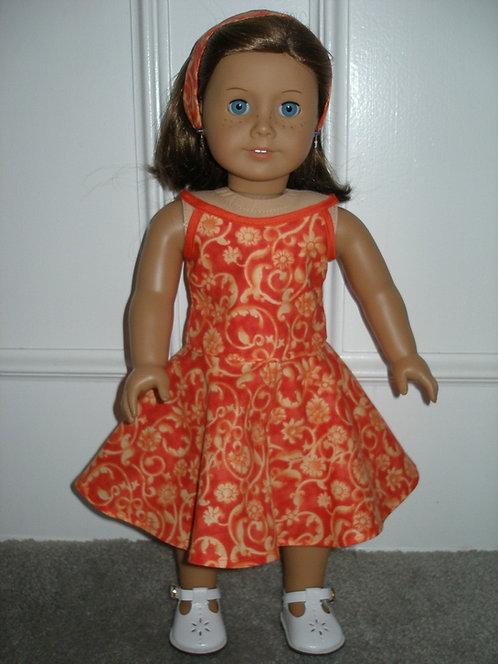 AG Orange Summer Dress