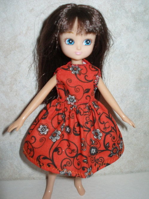 Lottie - Red and Black Print Dress
