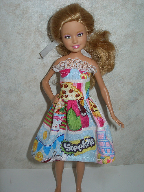 Stacie/Bratz Shopkins print dress