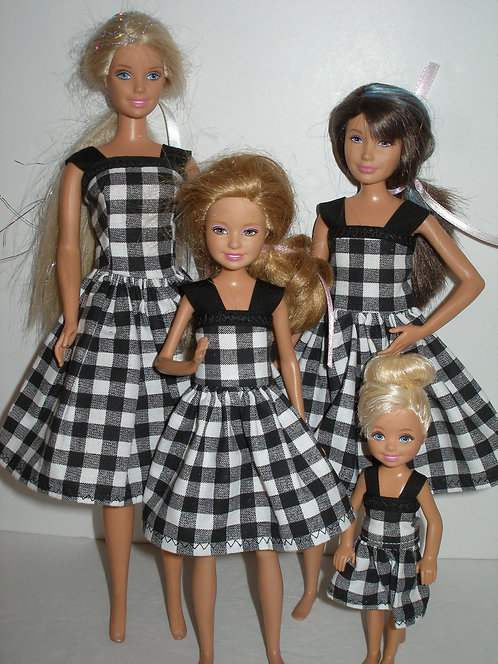 Black and white plaid Sister Set